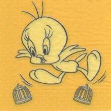 Serviette papier Titi le canari jaune 33 cm X 33 cm 2 plis