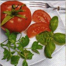 Serviette papier Tomate et aromate de 33 cm X 33 cm 3 plis