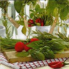 Serviette papier tomate et piment de 33 cm X 33 cm 3 plis