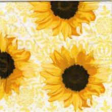 Serviette papier fleurs tournesol 33 cm X 33 cm 3 plis