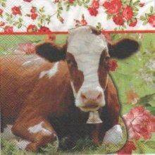 Serviette papier vache brune 33 cm X 33 cm 3 plis