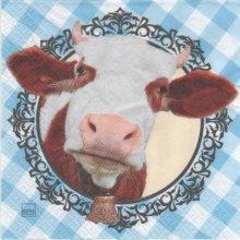 Serviette papier vache et cloche 33 cm X 33 cm 3 plis