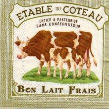 Serviette papier vache et lait frais 33 cm X 33 cm 3 plis