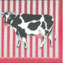 Serviette papier  motif vache 33 cm X 33 cm 3 plis