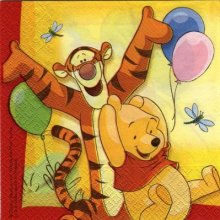 Serviette papier Winnie - Tigrou et les ballons