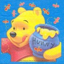 Serviette papier motif Winnie l'ourson et le pot de miel