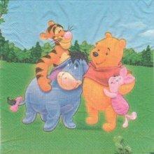 Serviette papier Winnie et ses amis 33 cm X 33 cm 2 plis