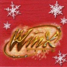 Serviette papier Winx de 33 cm X 33 cm 2 plis