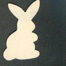 Support bois lapin en bois à peindre 50 mm x 35mm