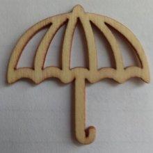 Parapluie bois 38 mm x 38 mm  découpe laser à décorer