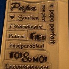 Tampons transparents Papa