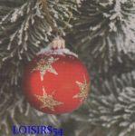 Serviette papier Noël et boule étoilé 38 cm x 38 cm pour la décoration de table