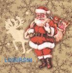 Serviette papier Père Noël et jouets - 33 cm x 33 cm