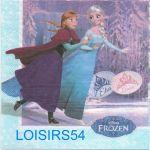 Serviette papier Reine des neige et Olaf 33 cm x 33 cm pour décoration