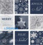 Serviette papier Joyeux Noël et cadeaux - 33 cm x 33 cm
